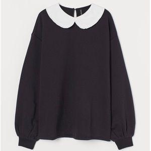 SOLD OUT H&M Peter Pan Collar Sweatshirt XS